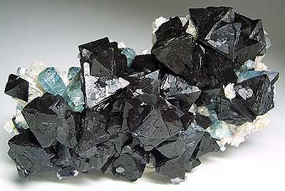 Fluorite/Fluorapatite/Bertrandite, Akchatau, Karaganda Oblast, Kazakhstan, 3 x 5 x 11.4 cm; John Veevaert photo