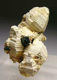 Parisite-(Ce), Mt. Malosa, Zomba district, Malawi; 2.2 x 2.6 x 4.6 cm; John Veevaert specimen and photo