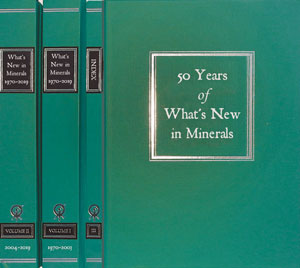 Fifty Years of What's New in Minerals <b><i>[NOW IN STOCK!]</i></b>