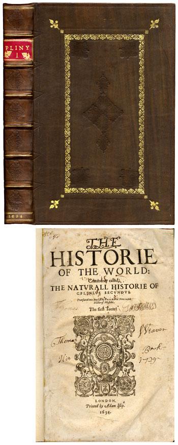 <br><font size=4>PLINIUS SECUNDUS, G. (164) <i>Naturall Historie</i></font size=4>