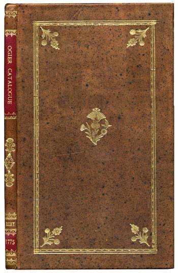 Remy's <i>Catalogue du Cabinet d'Histoire Naturelle de feu M. Ogier</i> (1775)